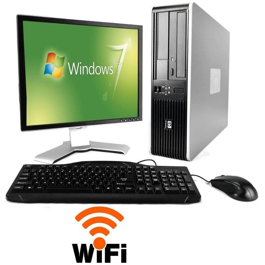 hp desktop amdathlon 2 0ghz 4gb 500gb dvd cdrw 17 lcd wifi windows 7 pro. Black Bedroom Furniture Sets. Home Design Ideas