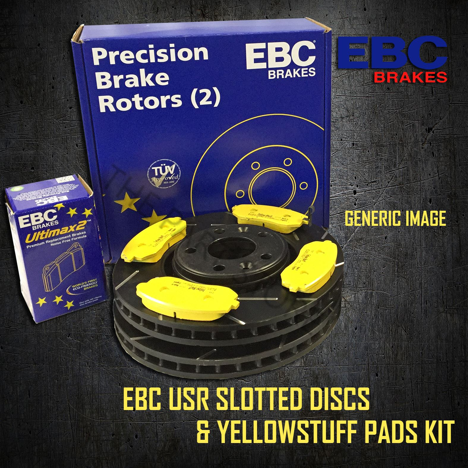 NEW EBC 258mm FRONT TURBO GROOVE GD DISCS AND GREENSTUFF PADS KIT