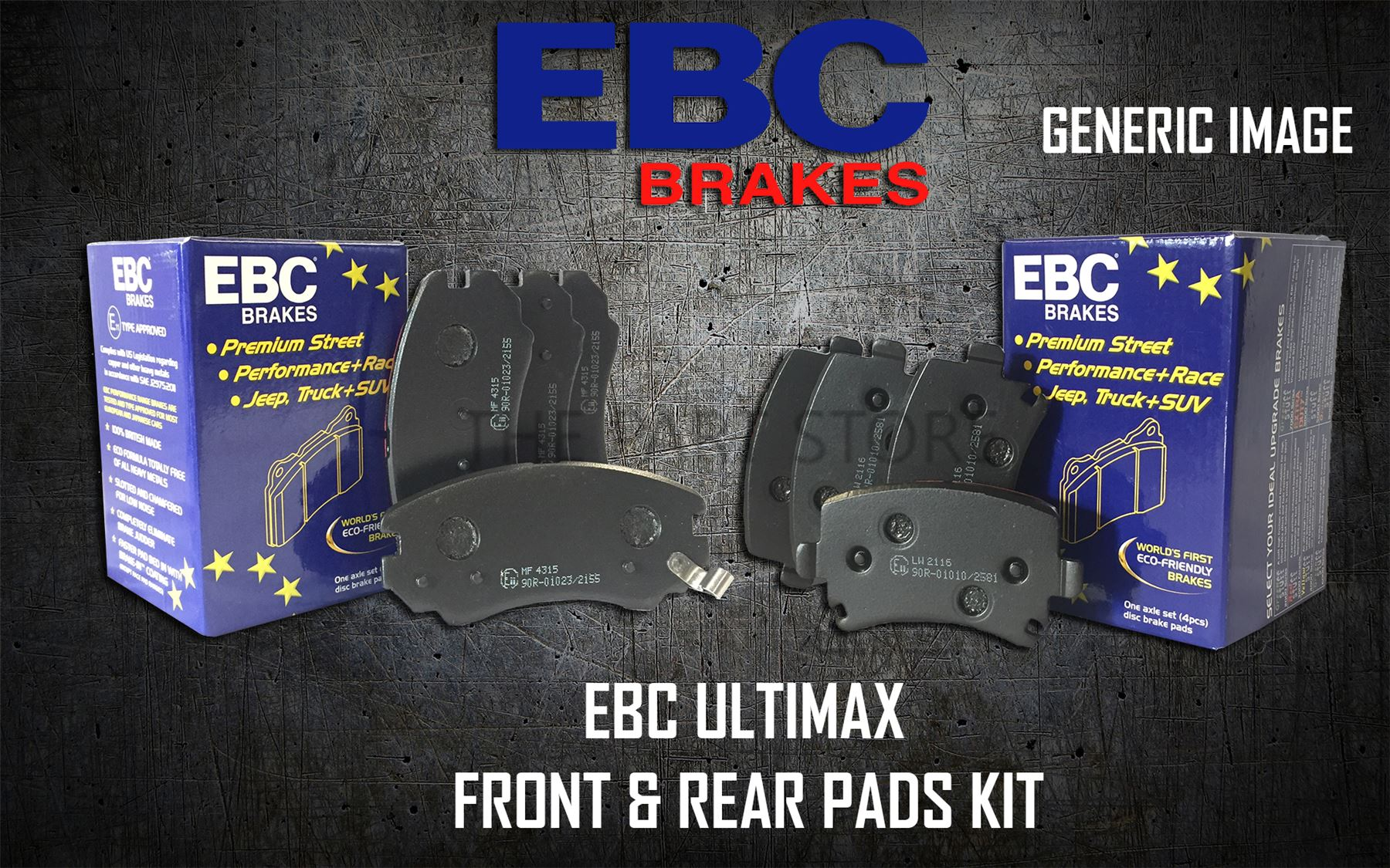 REAR BRAKE PADS KIT SET BRAKING PADS OE QUALITY PADKIT863 EBC ULTIMAX FRONT