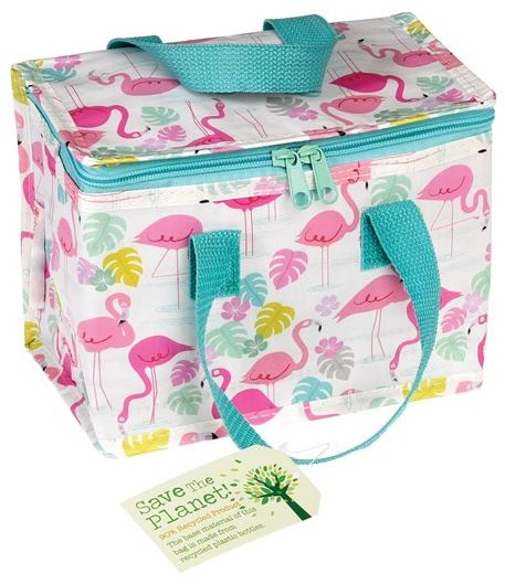 4095ac10ac22 Details about ™ Eco Recycled Flamingo Bay Birds School Nursery Lunch Bag  Insulated