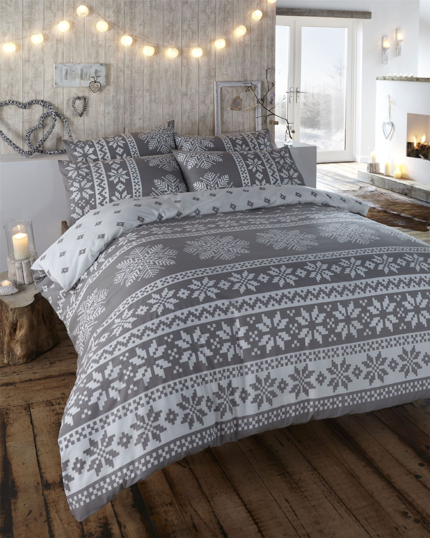 Nordic fair isle scandinavian winter duvet quilt cover bedding set ebay Swedish home furniture amazon