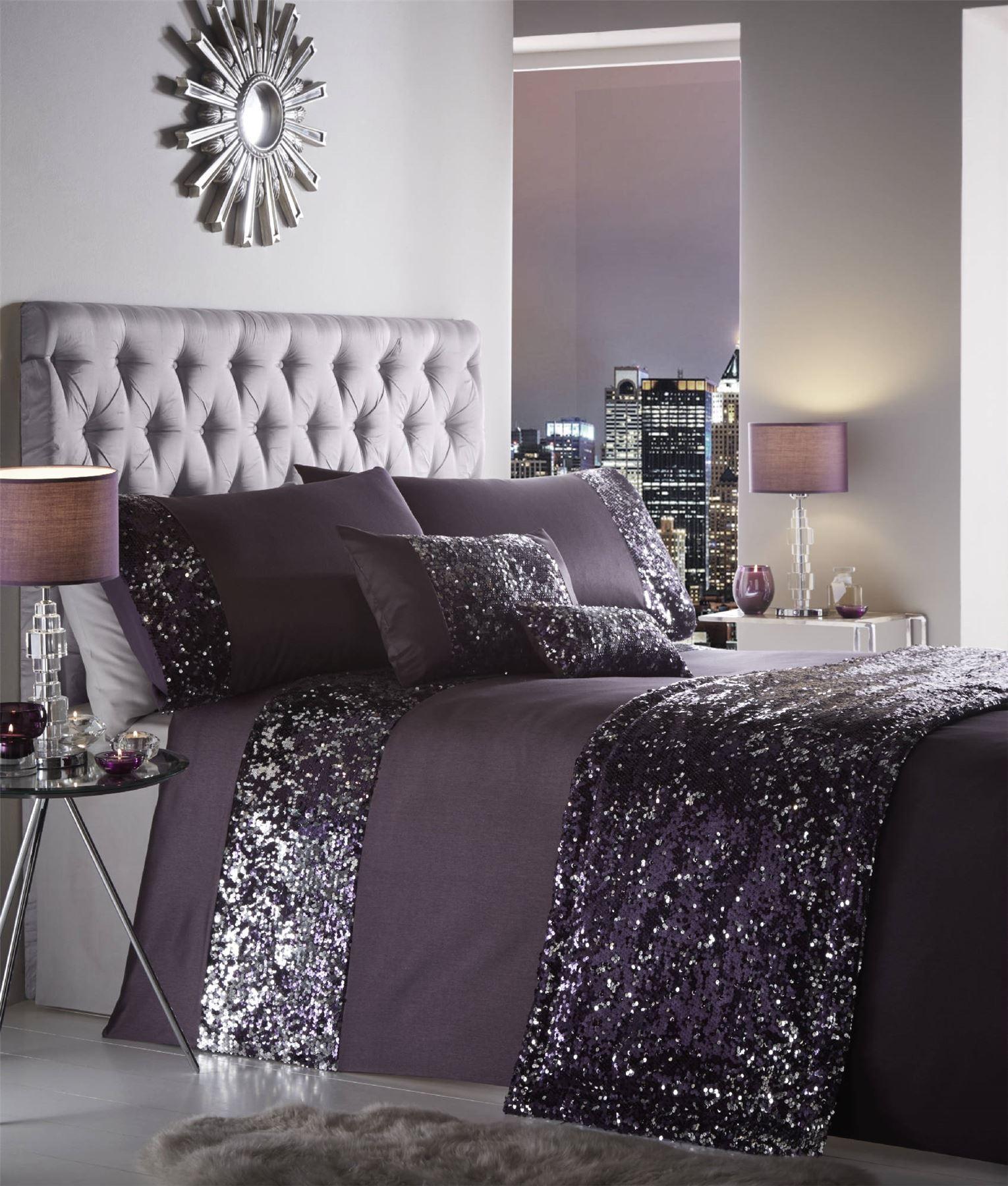 Luxury Sequin Duvet Quilt Cover Bedding Set Dazzle Ebay
