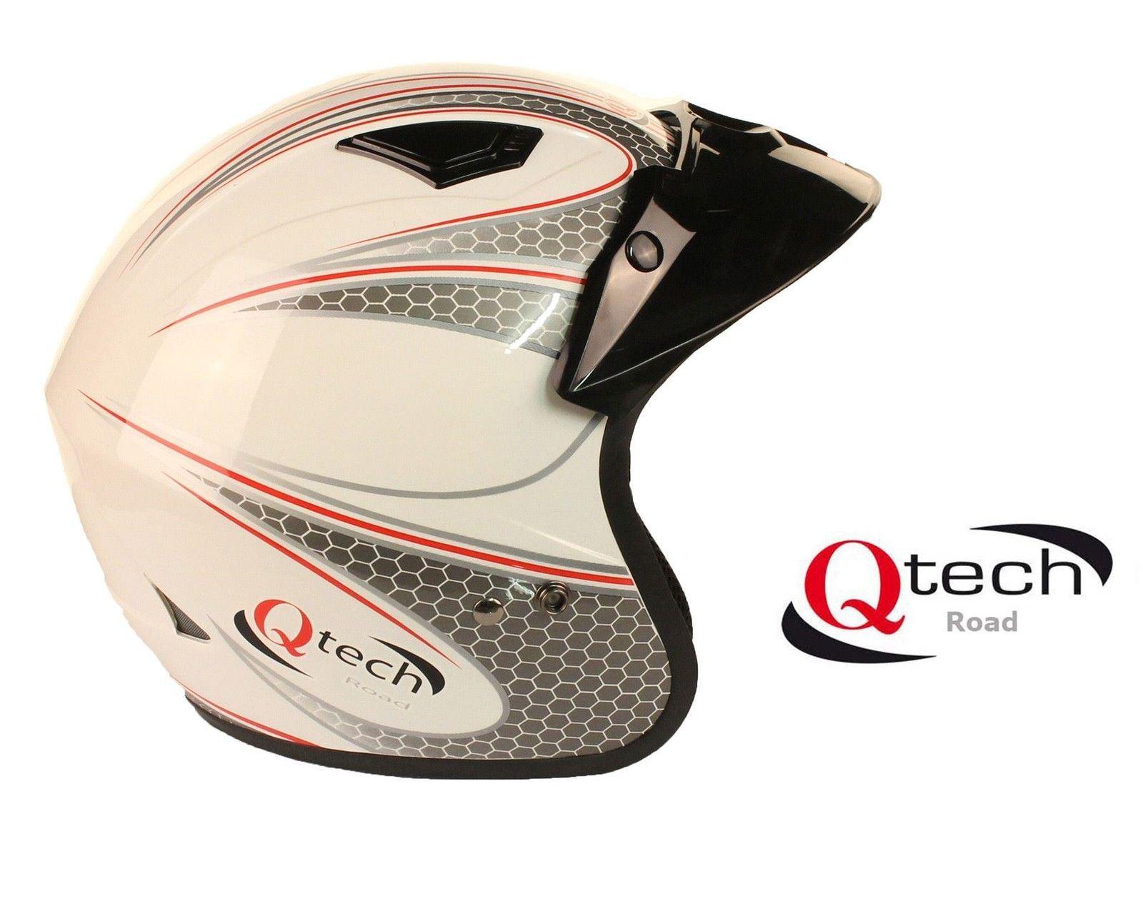 Qtech-Casco-abierto-para-scooter-Para-motocicleta-trial