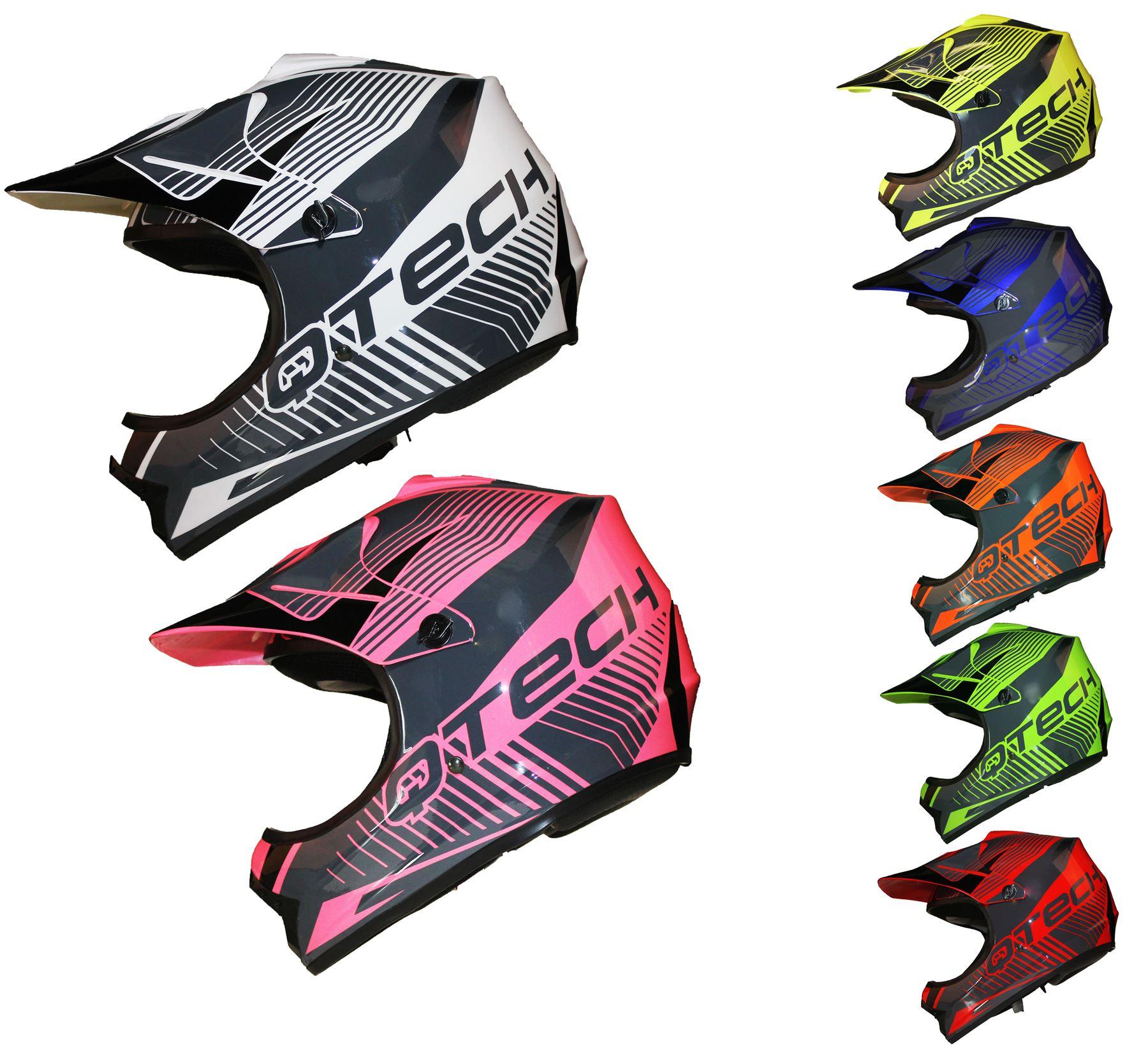 Casco Motocross Per Bambino Moto Cross Enduro Atv Mx Bmx