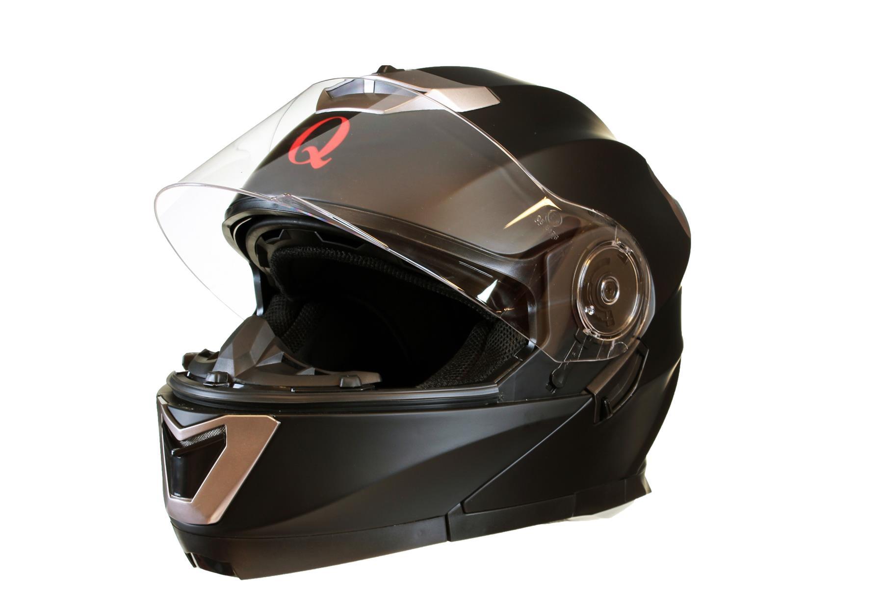 MODULAR-Flip-up-Front-Helmet-DOUBLE-Visor-MOTORCYCLE-Motorbike-Colour-CHOICE miniature 10