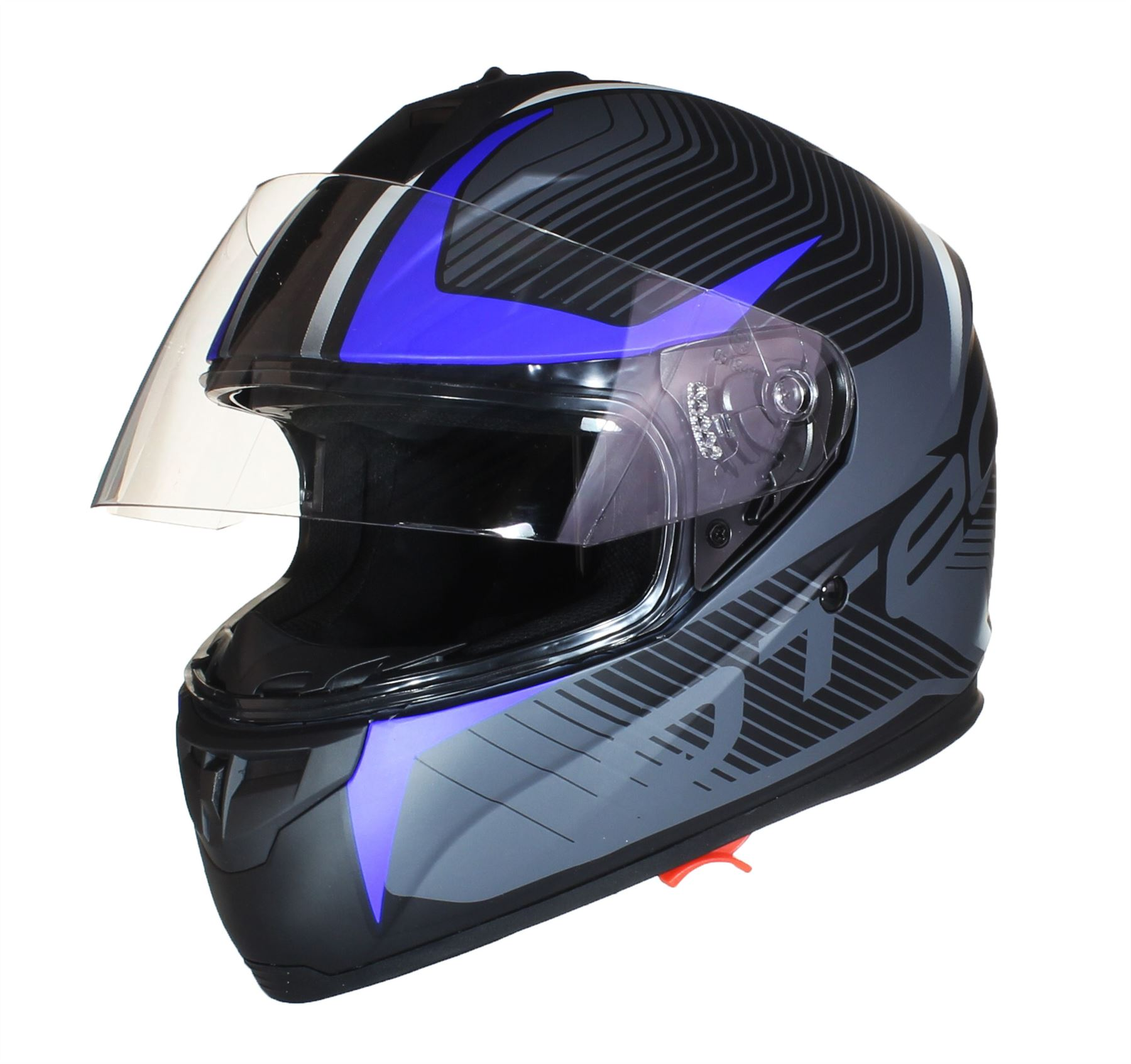 casque int gral double visi re moto scooter motard juridique route pare soleil ebay. Black Bedroom Furniture Sets. Home Design Ideas