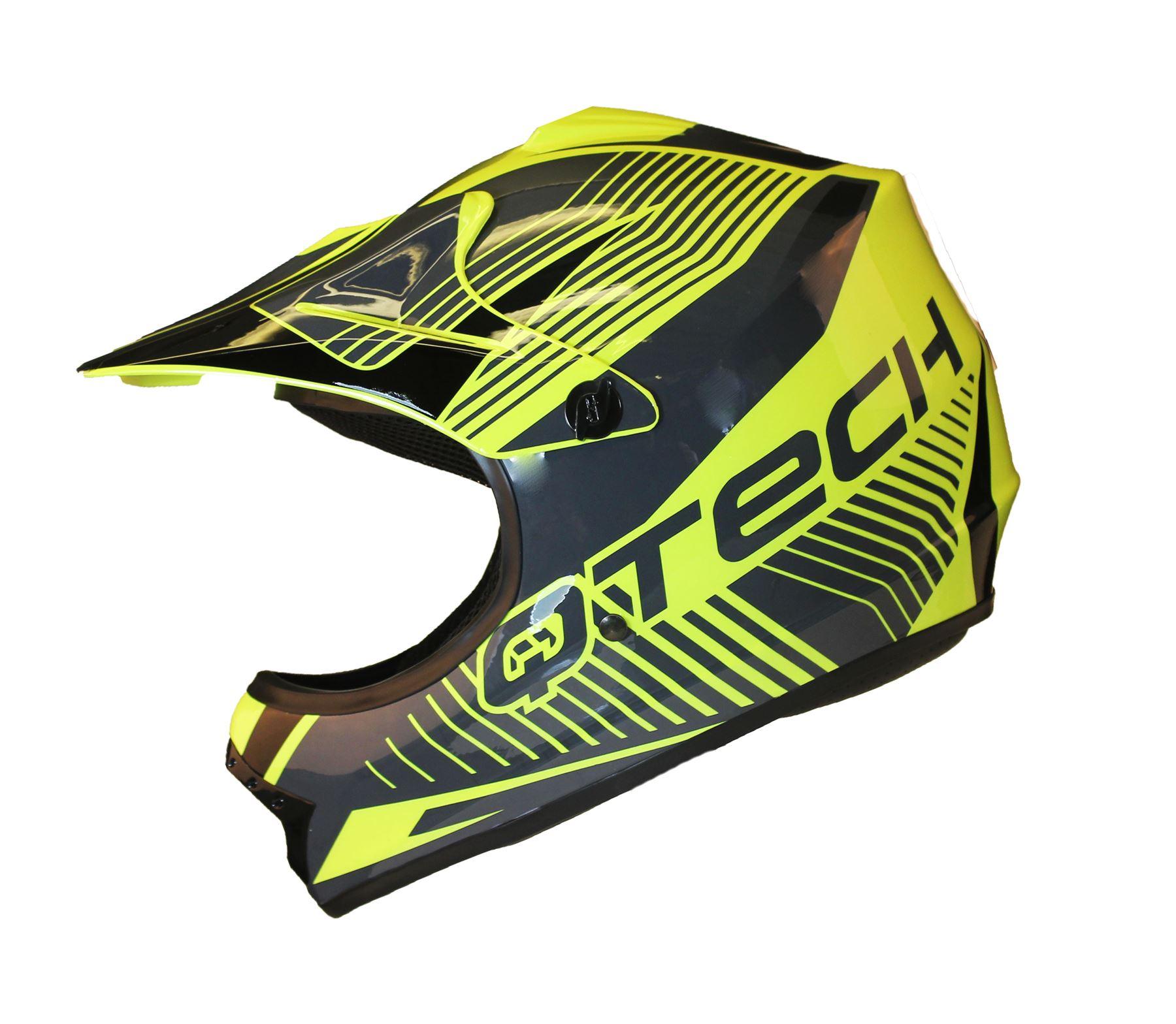 CASQUE-de-MOTO-pour-ENFANT-Motocross-cross-off-road-NOIR-MAT-ATV-Quad