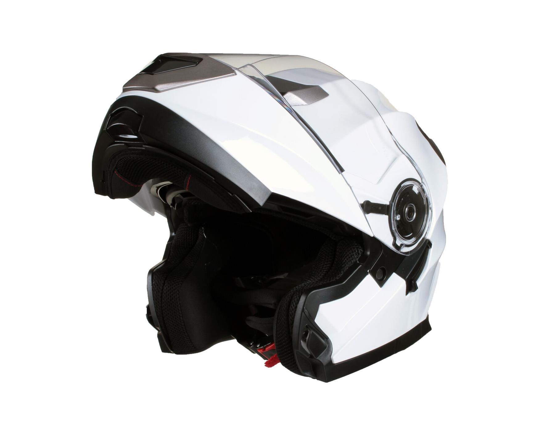 MODULAR-Flip-up-Front-Helmet-DOUBLE-Visor-MOTORCYCLE-Motorbike-Colour-CHOICE miniature 7