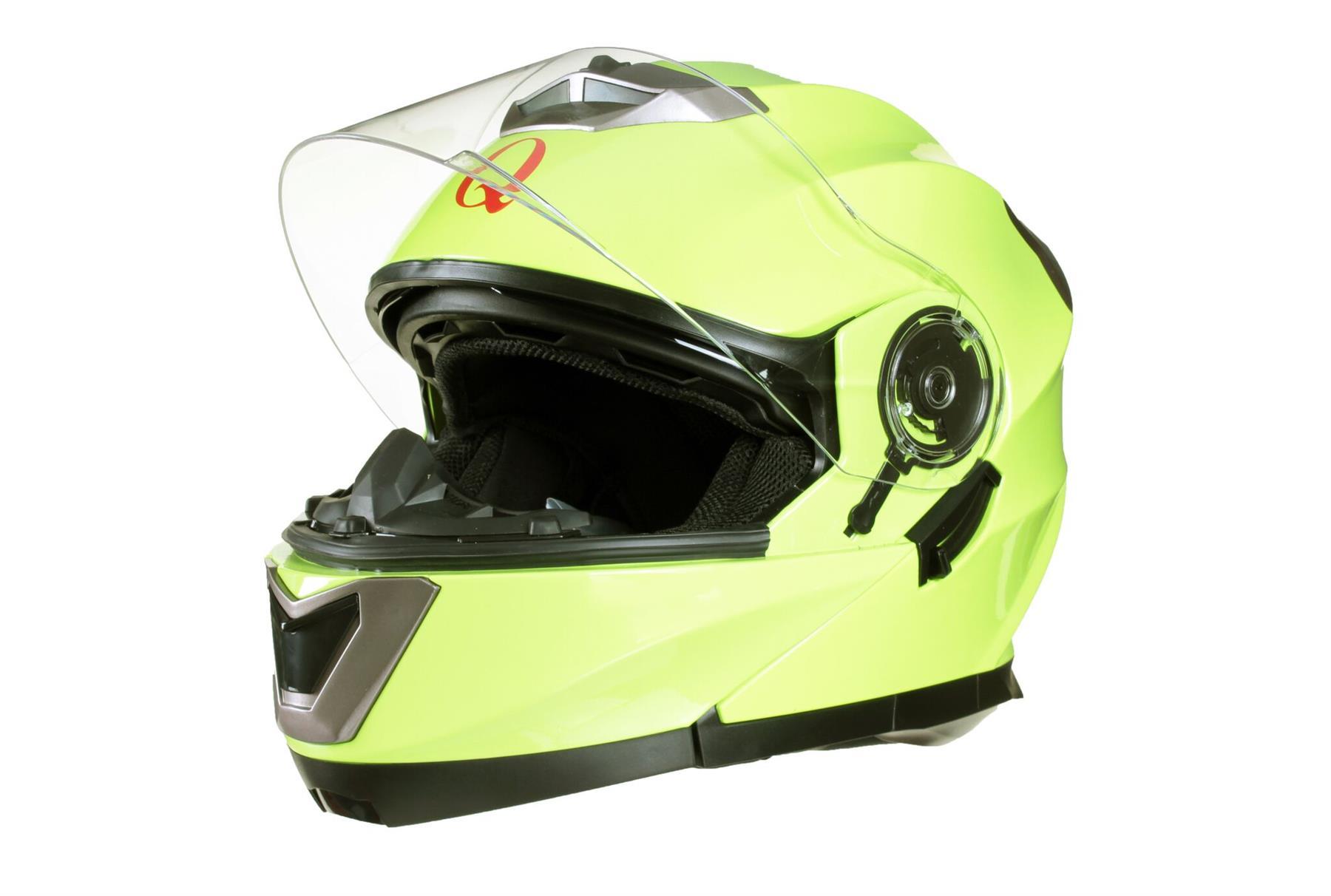 MODULAR-Flip-up-Front-Helmet-DOUBLE-Visor-MOTORCYCLE-Motorbike-Colour-CHOICE miniature 20