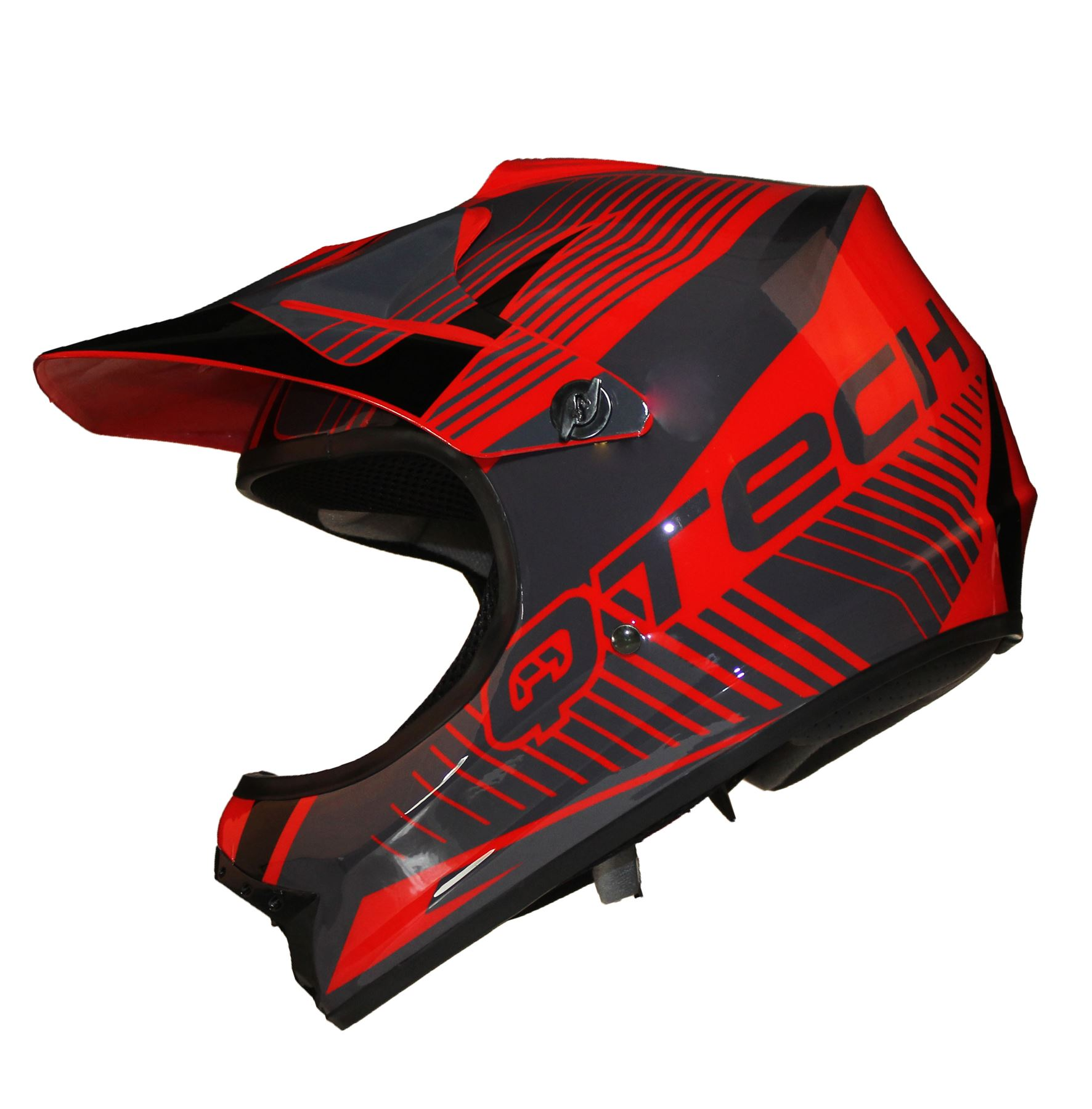 casque de moto pour enfant motocross cross off road noir mat atv quad ebay. Black Bedroom Furniture Sets. Home Design Ideas