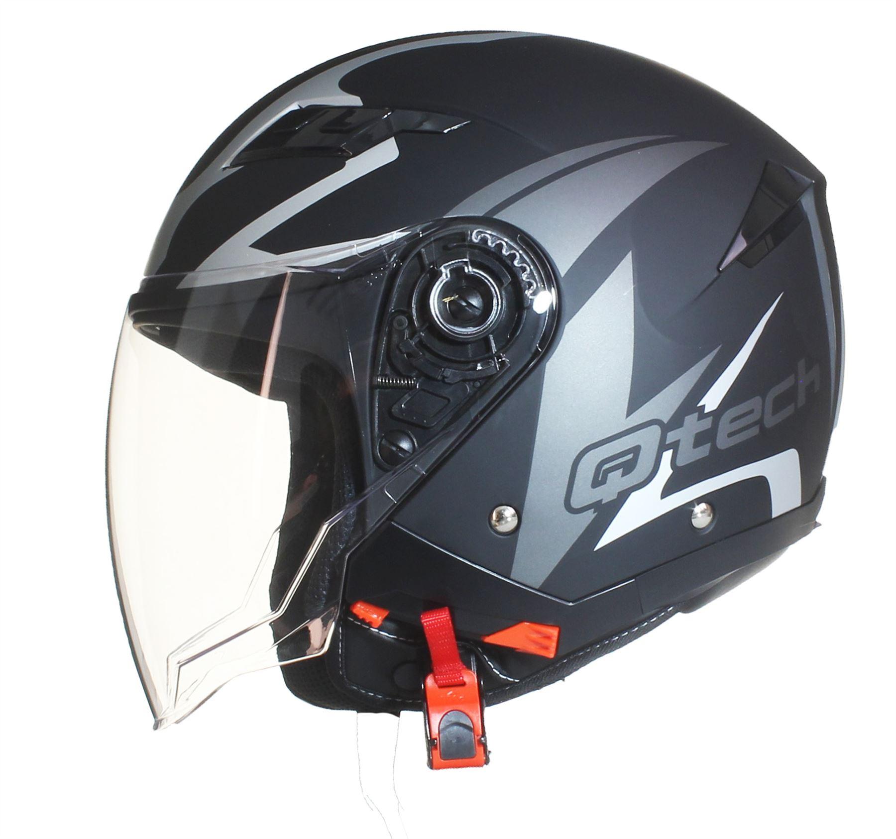 Casque-de-moto-FACE-OUVERTE-Pare-Soleil-Interne-JET-Helm-Double-Visiere-Scooter