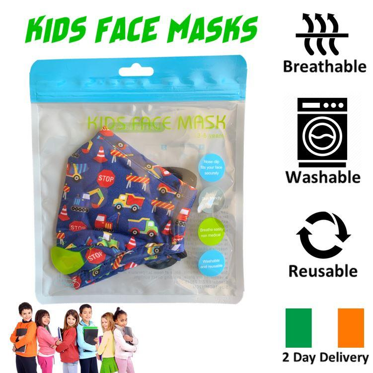 KIDS-FACE-MASK-ULTRA-SOFT-BREATHABLE-amp-WASHABLE-IRISH-2-DAY-DELIVERY-6-STYLES thumbnail 10