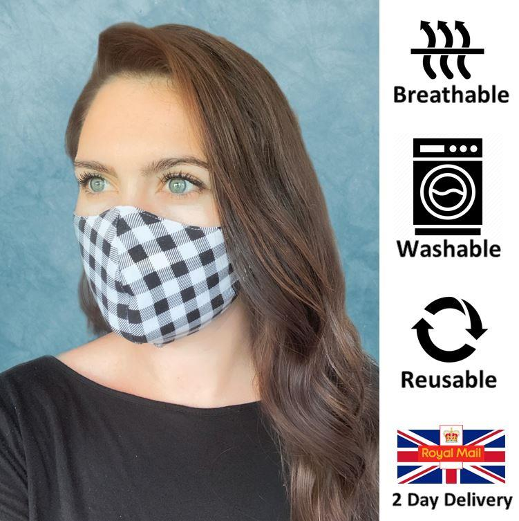 DUAL-LAYER-BREATHABLE-REUSABLE-amp-WASHABLE-STYLISH-FACE-MASK-IRISH-STOCK thumbnail 24