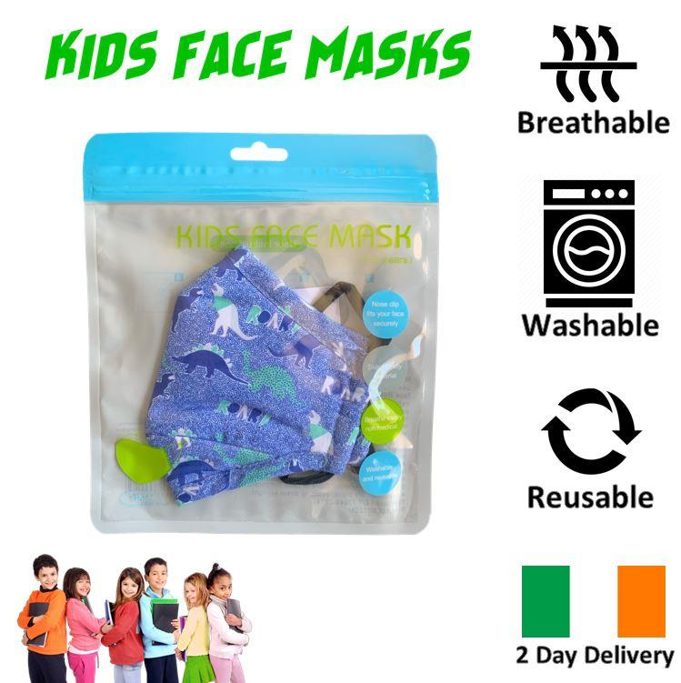 KIDS-FACE-MASK-ULTRA-SOFT-BREATHABLE-amp-WASHABLE-IRISH-2-DAY-DELIVERY-6-STYLES thumbnail 14