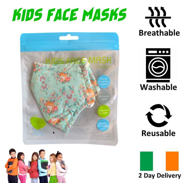 KIDS-FACE-MASK-ULTRA-SOFT-BREATHABLE-amp-WASHABLE-IRISH-2-DAY-DELIVERY-6-STYLES thumbnail 35
