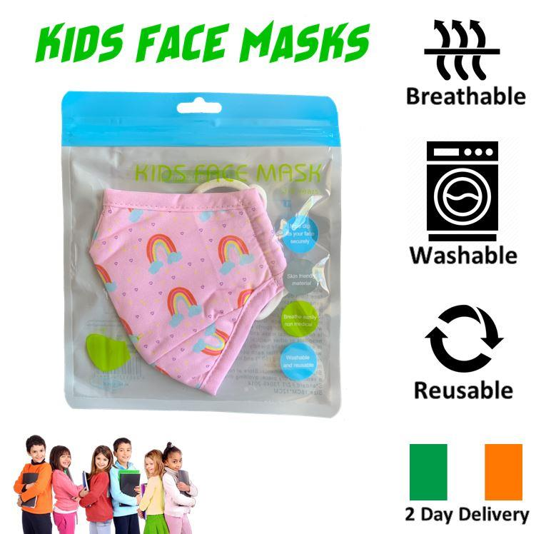KIDS-FACE-MASK-ULTRA-SOFT-BREATHABLE-amp-WASHABLE-IRISH-2-DAY-DELIVERY-6-STYLES thumbnail 29