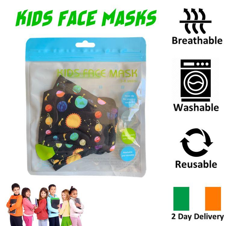 KIDS-FACE-MASK-ULTRA-SOFT-BREATHABLE-amp-WASHABLE-IRISH-2-DAY-DELIVERY-6-STYLES thumbnail 24