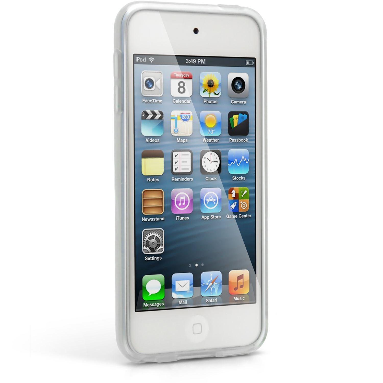 Pantalla Protector igadgitz Negro Case Silicona Funda Cover Carcasa para Apple iPod Touch 4/ª Gen
