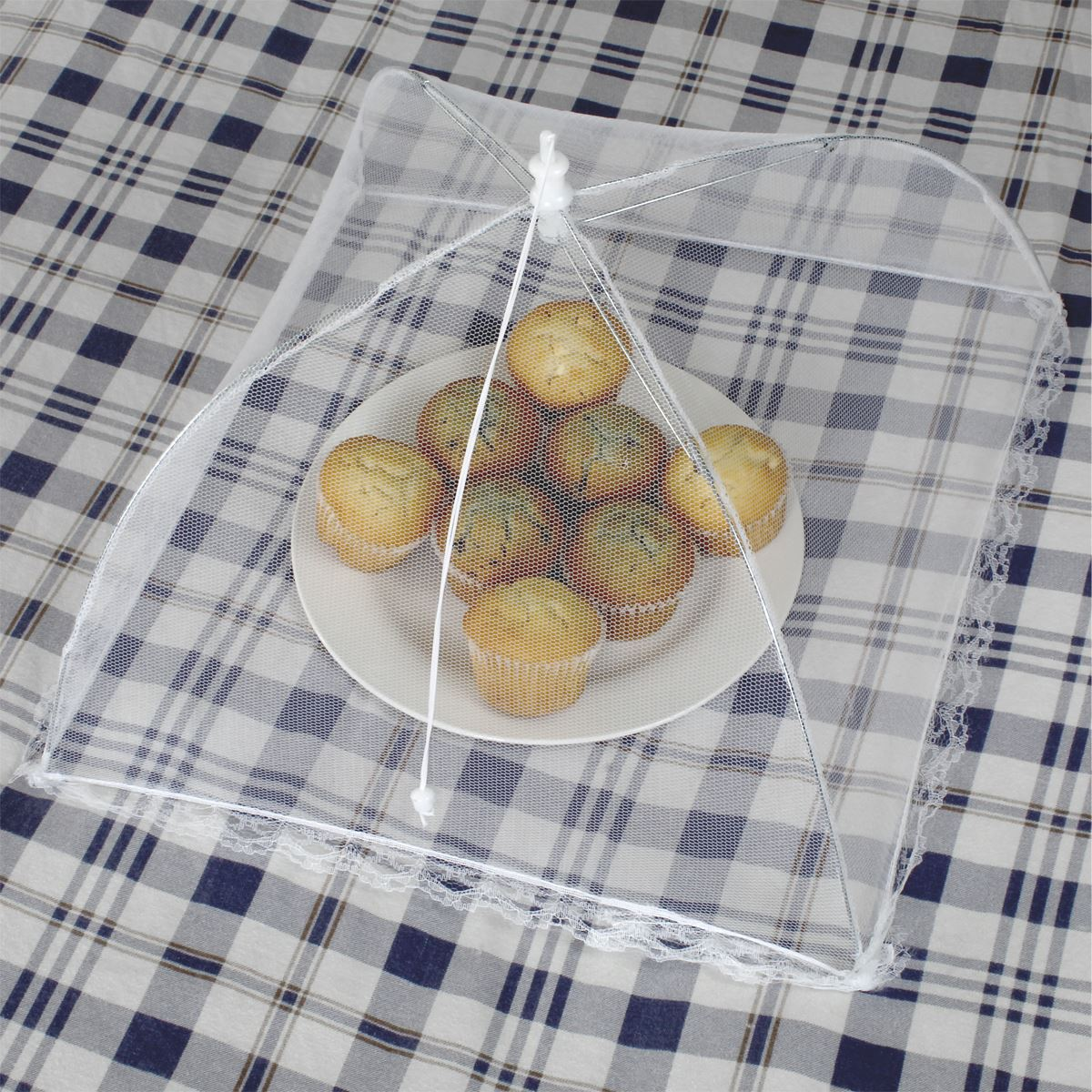 Reusable-Pop-up-Mesh-Screen-Dome-Food-Cover-Tent-Umbrella-Net-BBQ-Table-Fly thumbnail 5