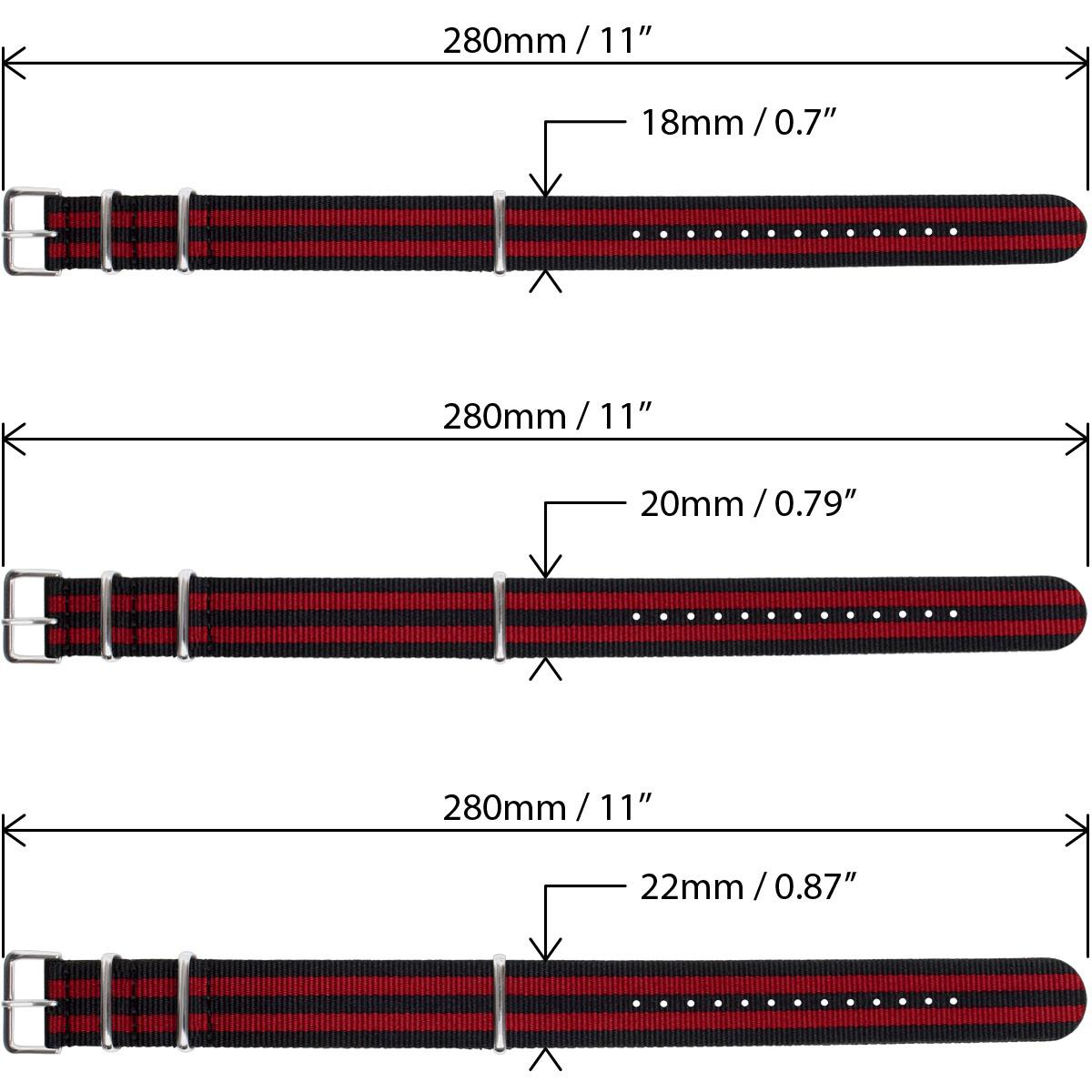 Nato-Watch-Strap-Nylon-Men-Wrist-18mm-20mm-22mm-Smart-Military-Pin-Straps miniatuur 16