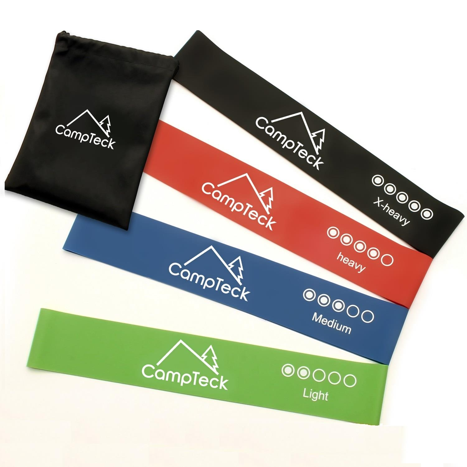 UK STOCK**Resistance Loop Bands Carry Bag * Strength Training Yoga SET of 4
