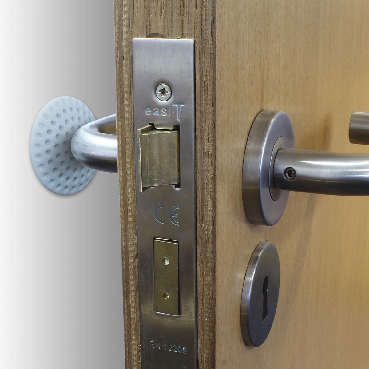 5-x-Wall-Protector-Self-Adhesive-Rubber-Stop-Door-Handle-Bumper-Guard-Stopper miniatuur 6
