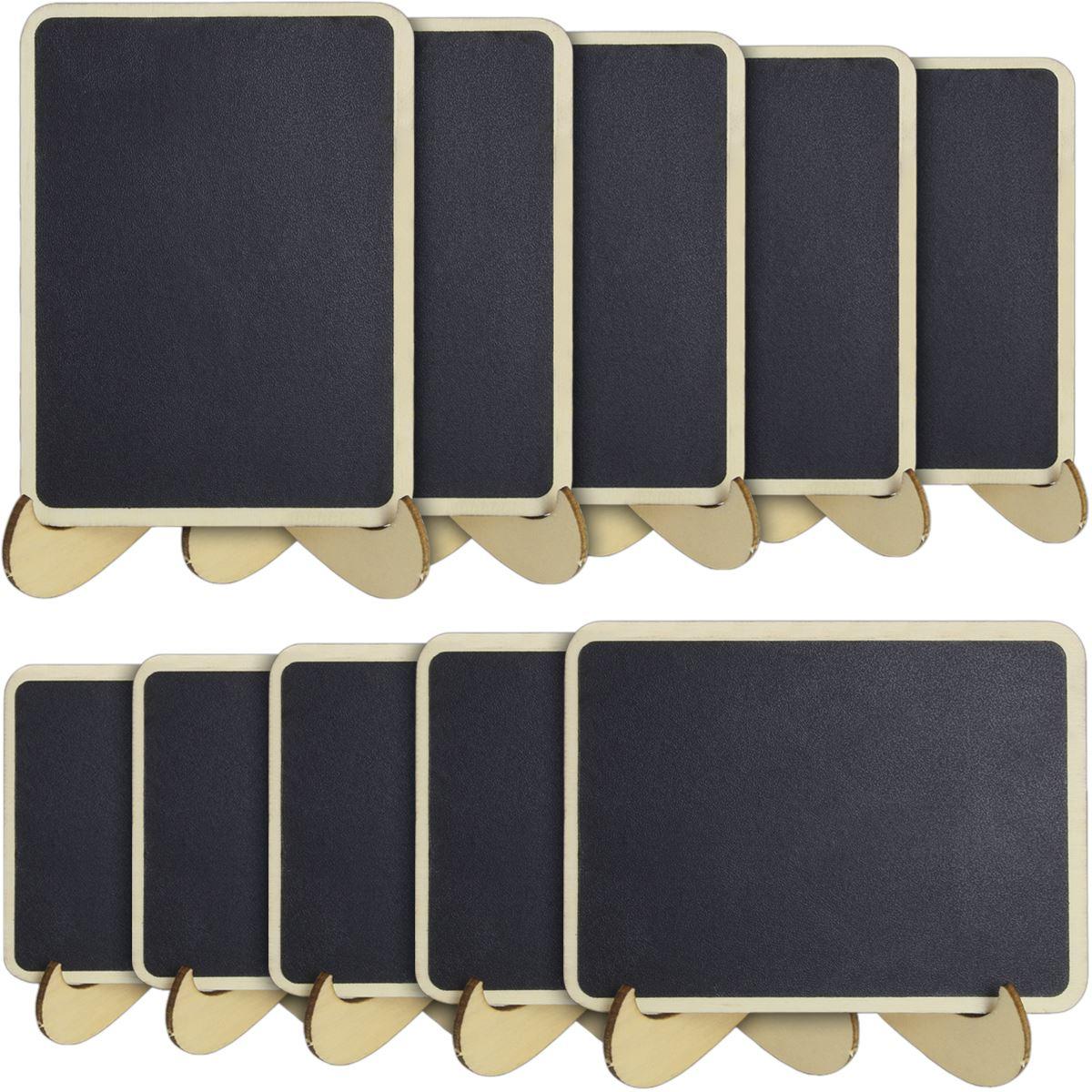 Hochzeit Tisch Etiketten Mini Kreidetafel Schwarz Schreibtafel Nachricht Tafel