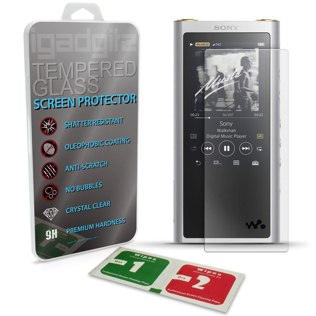 Tempered Glass Screen Protector Film for Sony Walkman NW A100 A105 A106HN A100TPS