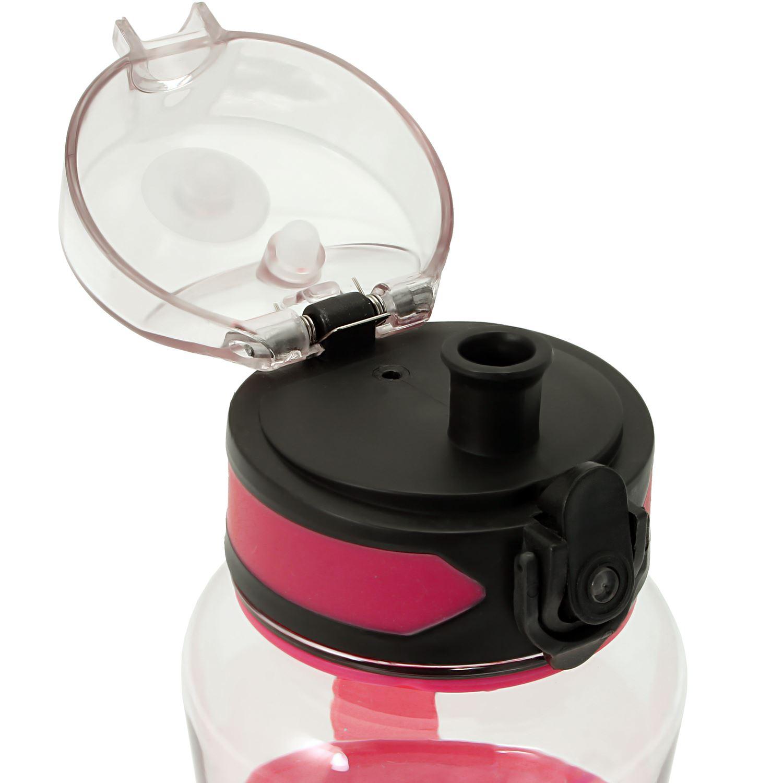 Sports-1-Litre-Water-Bottle-1000ml-BPA-Free-Leak-Proof-Drinks-Flip-Lock-Lid thumbnail 9