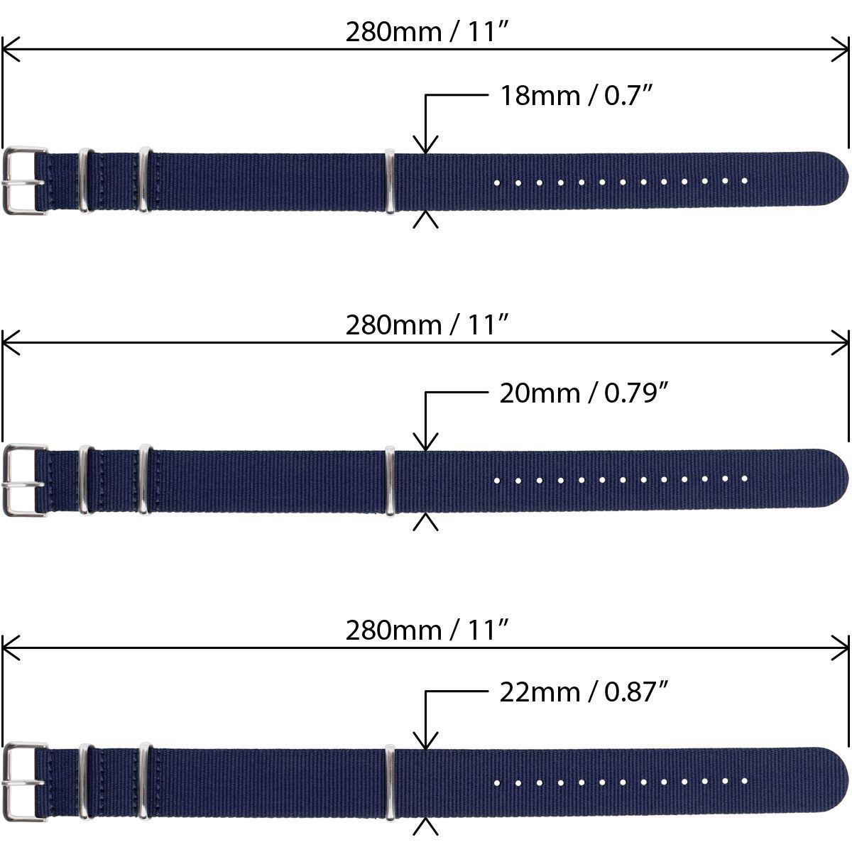Nato-Watch-Strap-Nylon-Men-Wrist-18mm-20mm-22mm-Smart-Military-Pin-Straps miniatuur 28