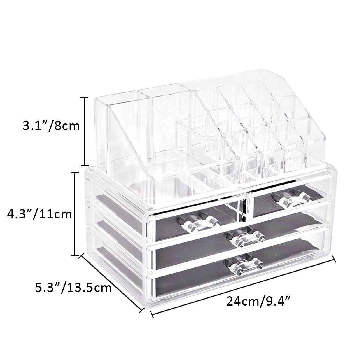 Clear-Cosmetic-Organiser-Acrylic-Makeup-Drawer-Holder-Jewellery-Case-Box-Storage 縮圖 4