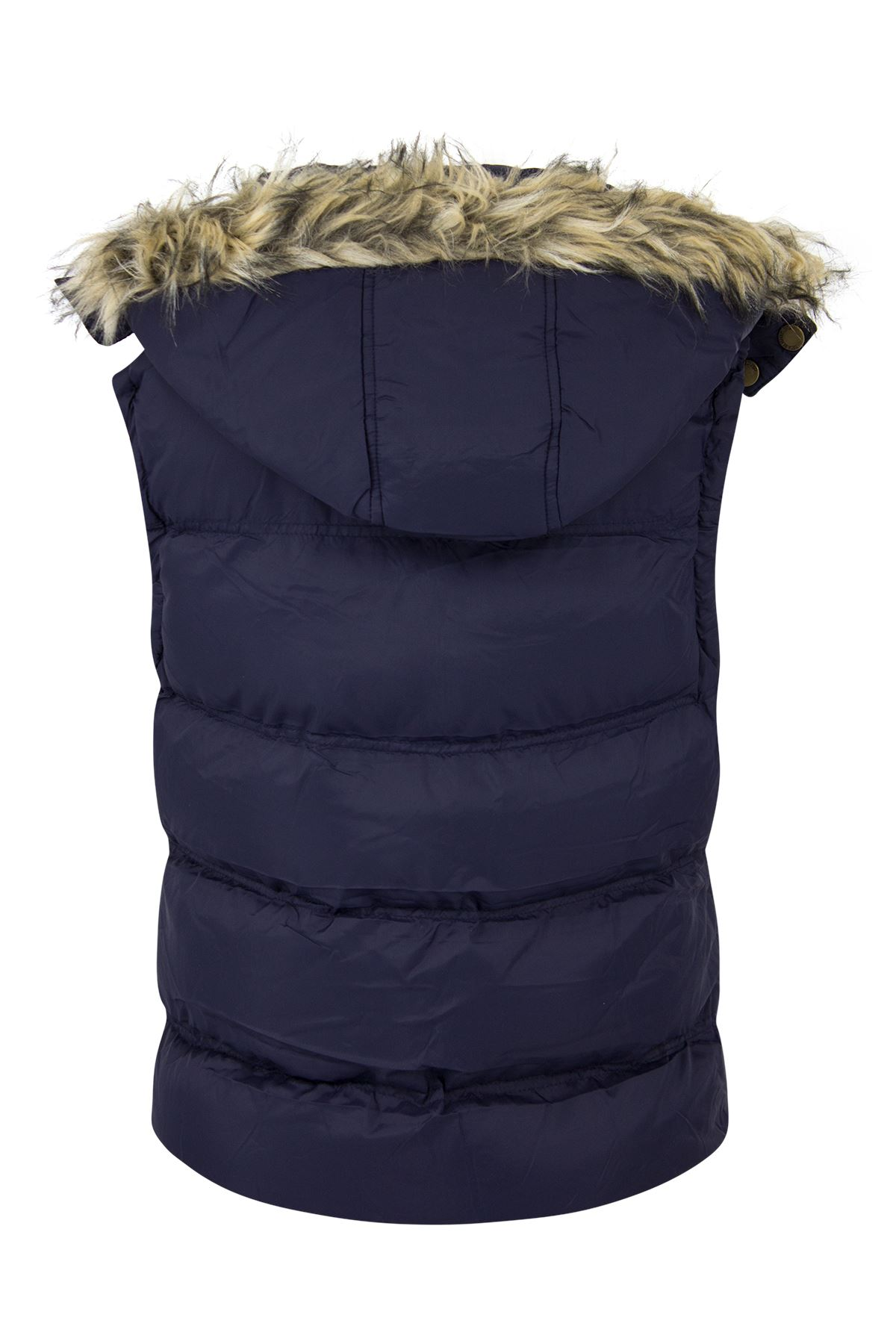 New-Womens-Padded-Sleeveless-Gilet-Faux-Fur-Hooded-Puffer-Body-Warmer-Jacket thumbnail 7
