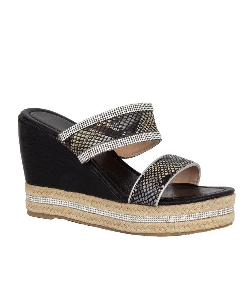 Shelikes-Womens-Sparkly-Wedge-Diamante-Slip-On-Summer-Beach-Holiday-Sandals thumbnail 3