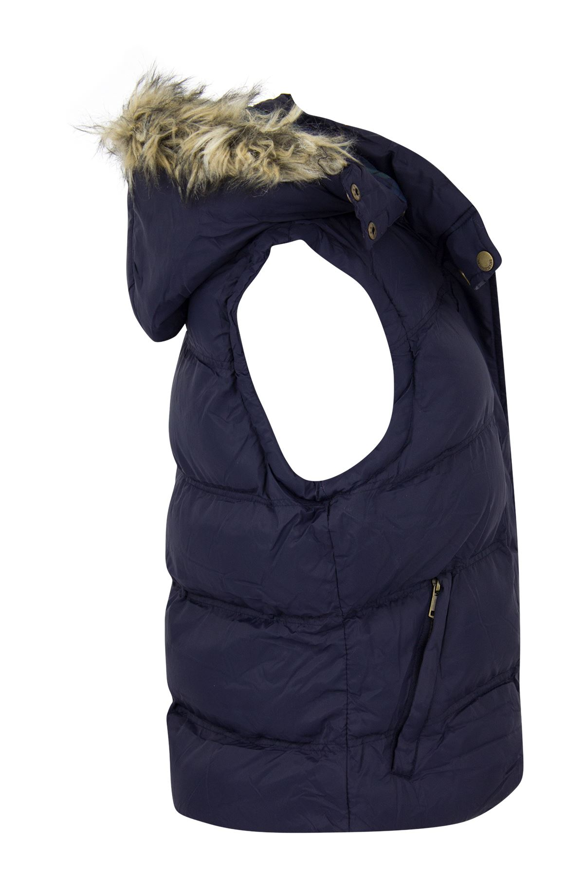 New-Womens-Padded-Sleeveless-Gilet-Faux-Fur-Hooded-Puffer-Body-Warmer-Jacket thumbnail 6