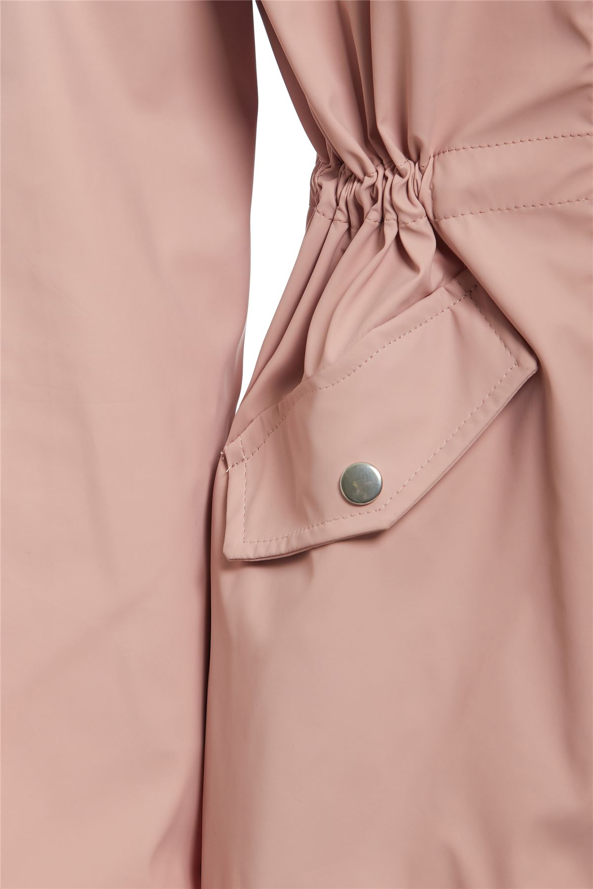 shelikes New Womens Hooded Poppered Flap Zip Raincoat Kagool Cagoule Mac Jacket 8-16