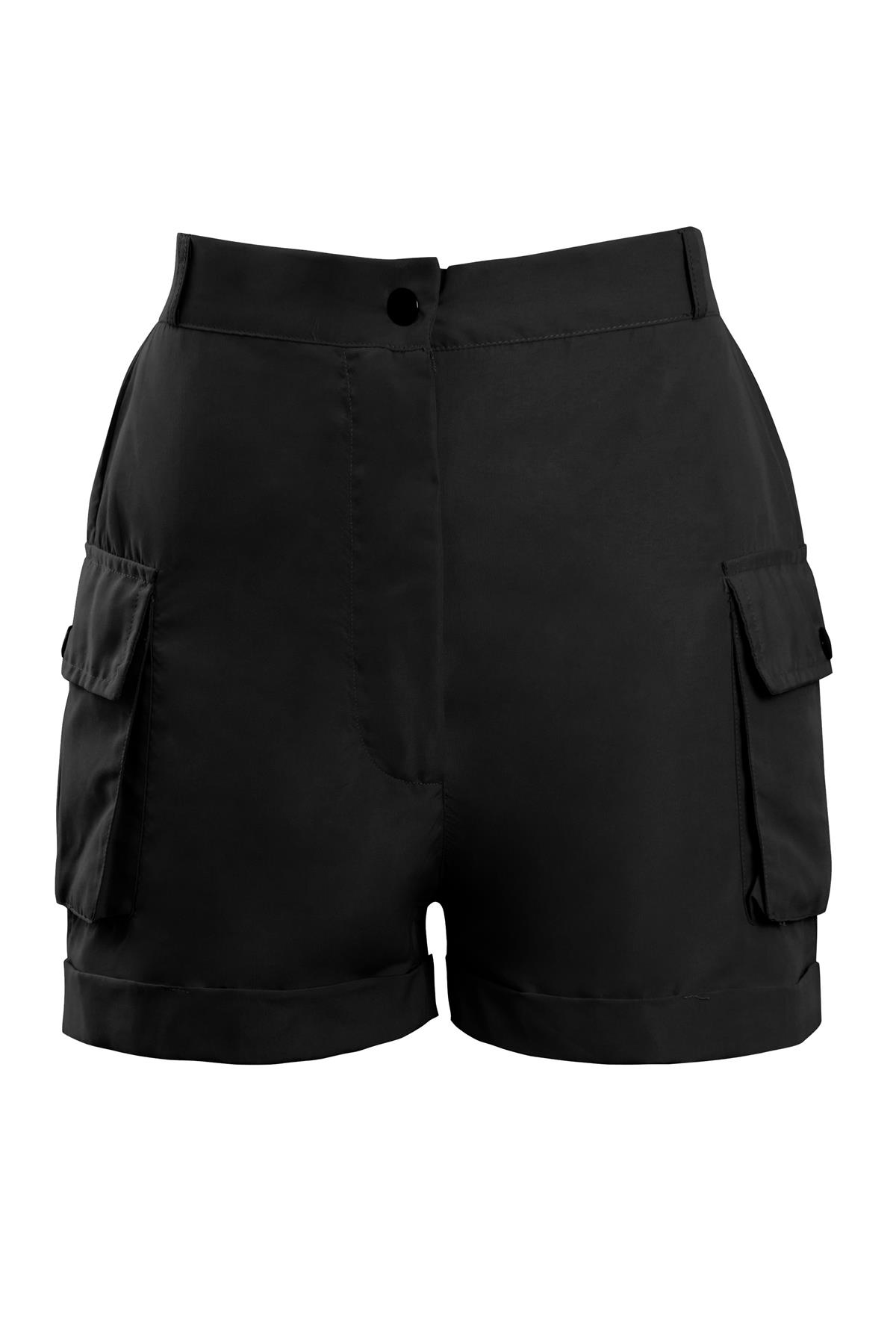 Shelikes-Womens-Cargo-Crop-Top-Shorts-Co-ord-Festival-Tie-Front-Pocket-Set thumbnail 6