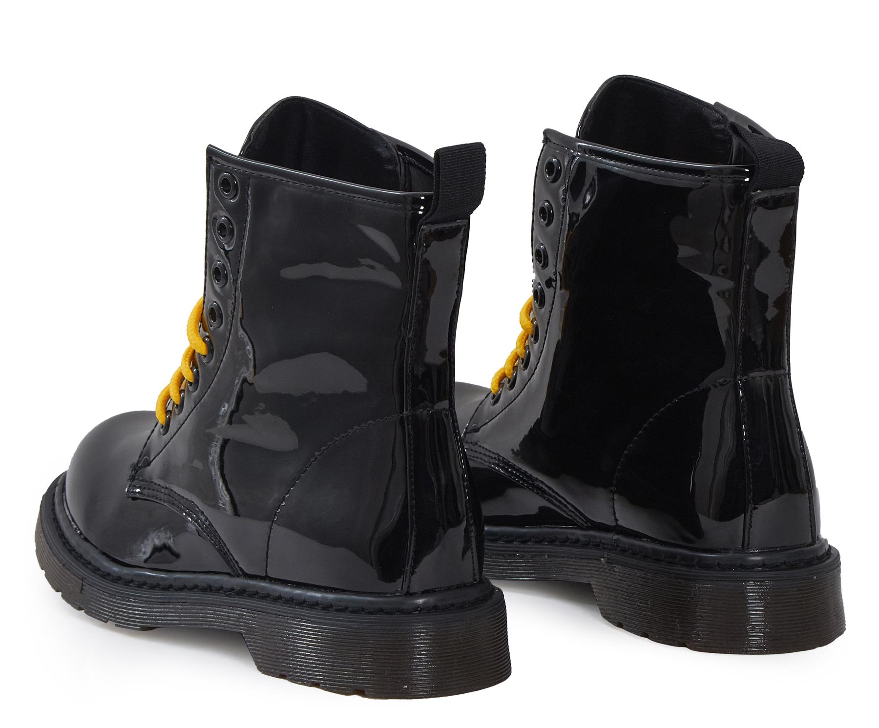 Shelikes-Womens-Ankle-Boots-Vintage-Combat-Army-Flat-Lace-Up-Work-Military-Biker thumbnail 8