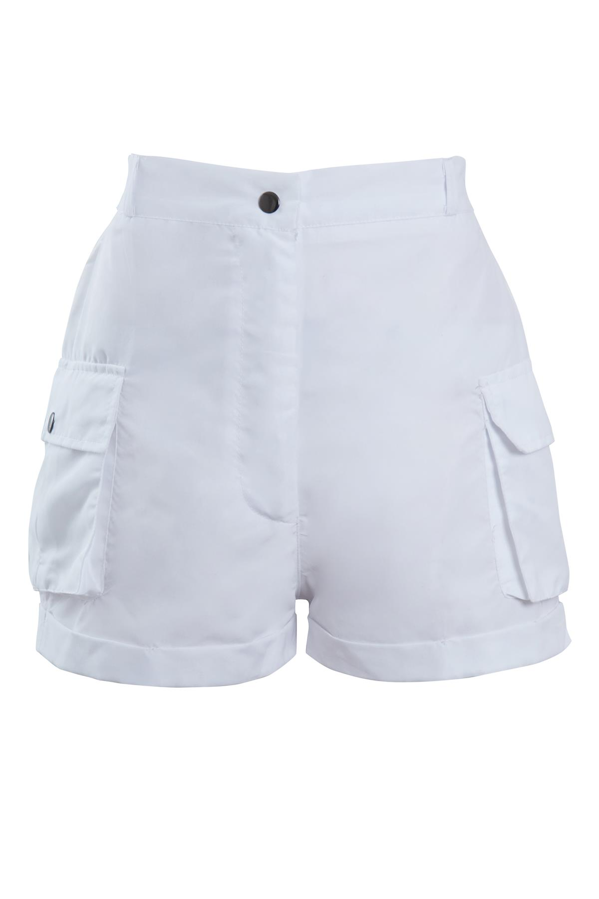 Shelikes-Womens-Cargo-Crop-Top-Shorts-Co-ord-Festival-Tie-Front-Pocket-Set thumbnail 30