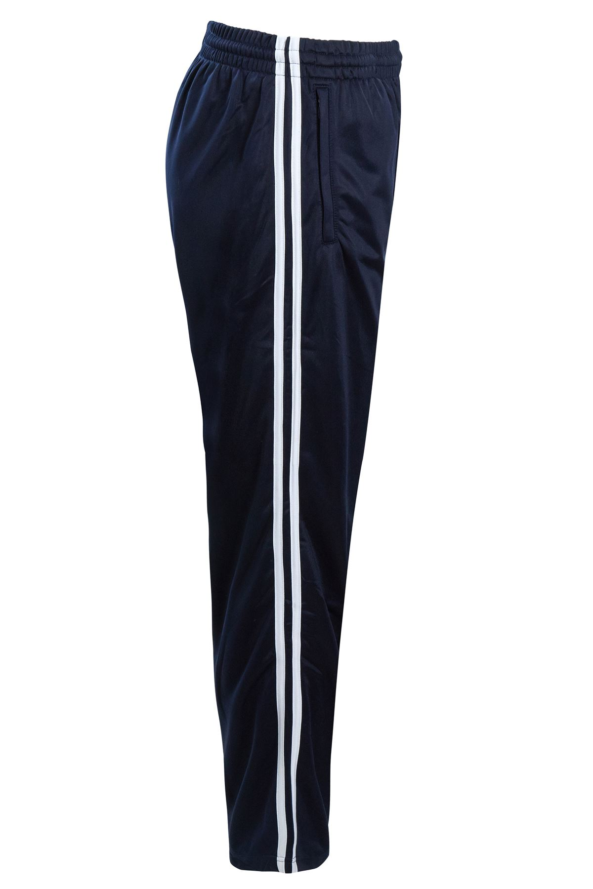 Mens-Tracksuit-Joggers-Jogging-Striped-Gym-Sports-Silky-Bottoms-Trousers-Pants thumbnail 19