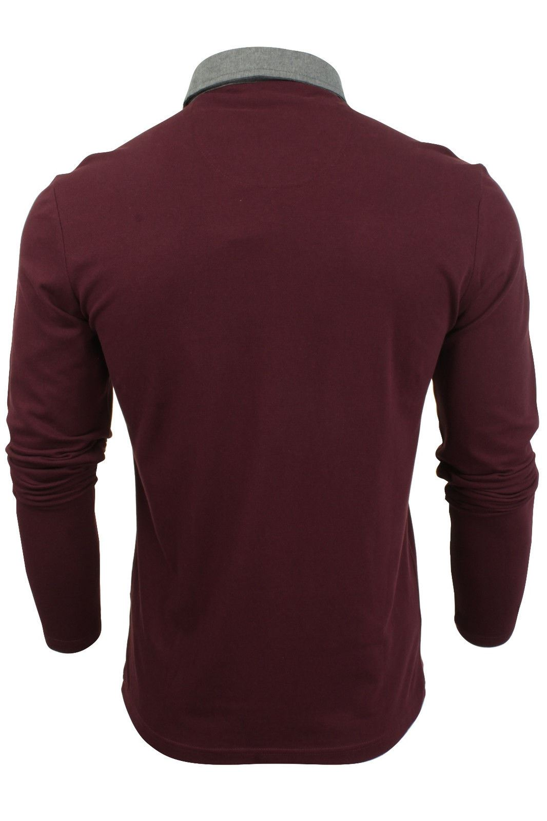 New-Mens-Button-Up-Long-Sleeve-Pique-Collared-Casual-Formal-Polo-Jumper-Shirt thumbnail 7