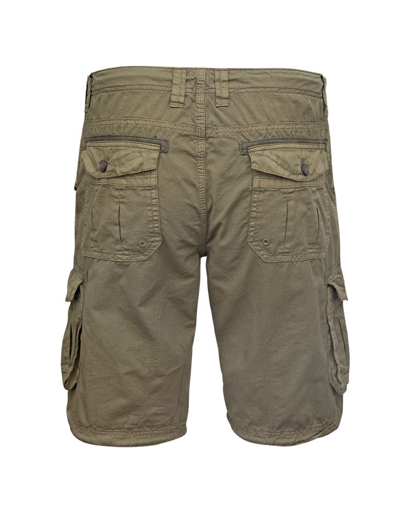 Mens-Knee-Length-Cargo-Utility-Pocket-Shorts-Summer-Hiking-Cotton-TwillPants thumbnail 13