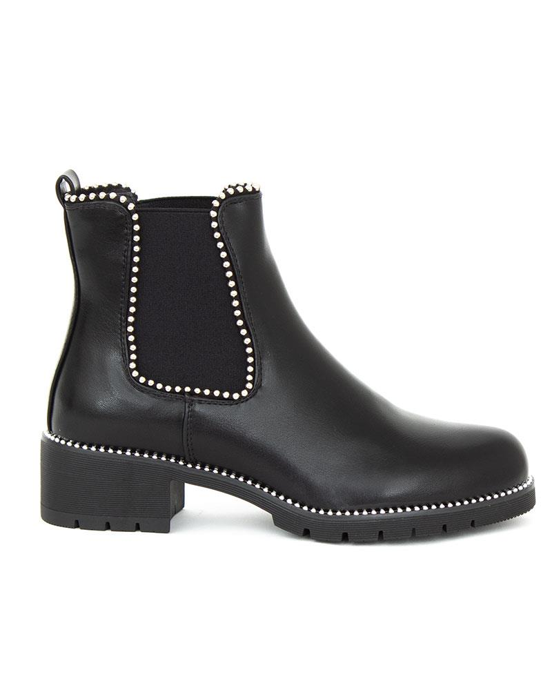 womens studded black boots factory