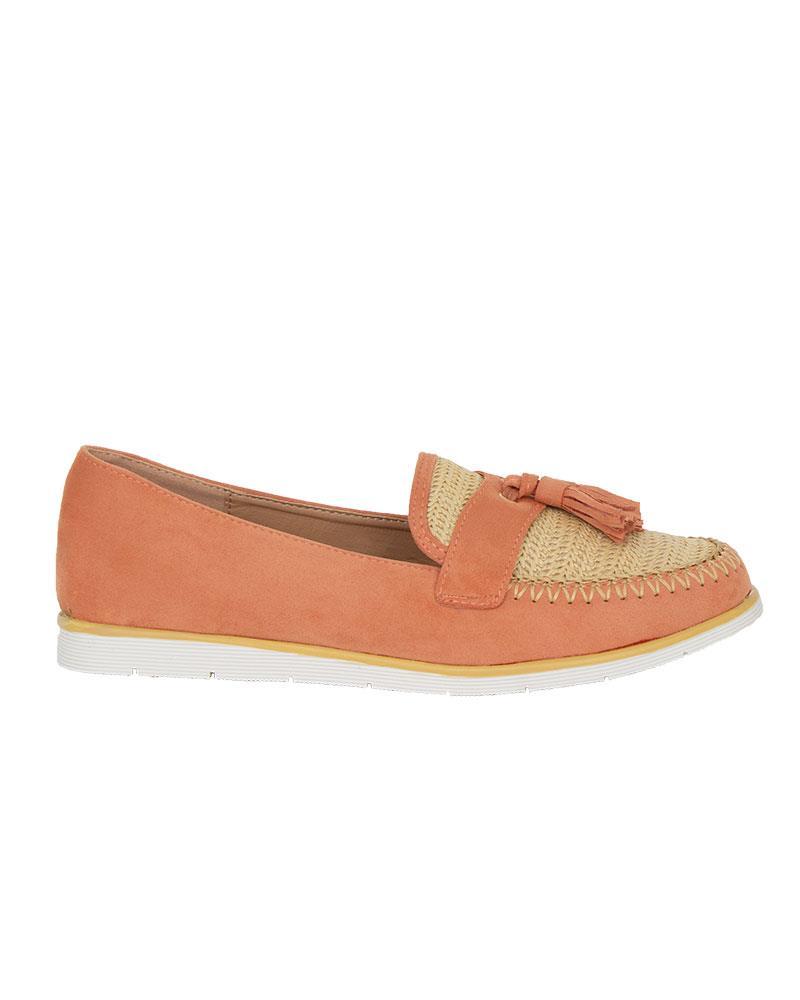 Ladies-Slip-On-Tassle-Suede-Flat-Loafers-Brogues-Slider-Summer-Womens-Shoes thumbnail 7