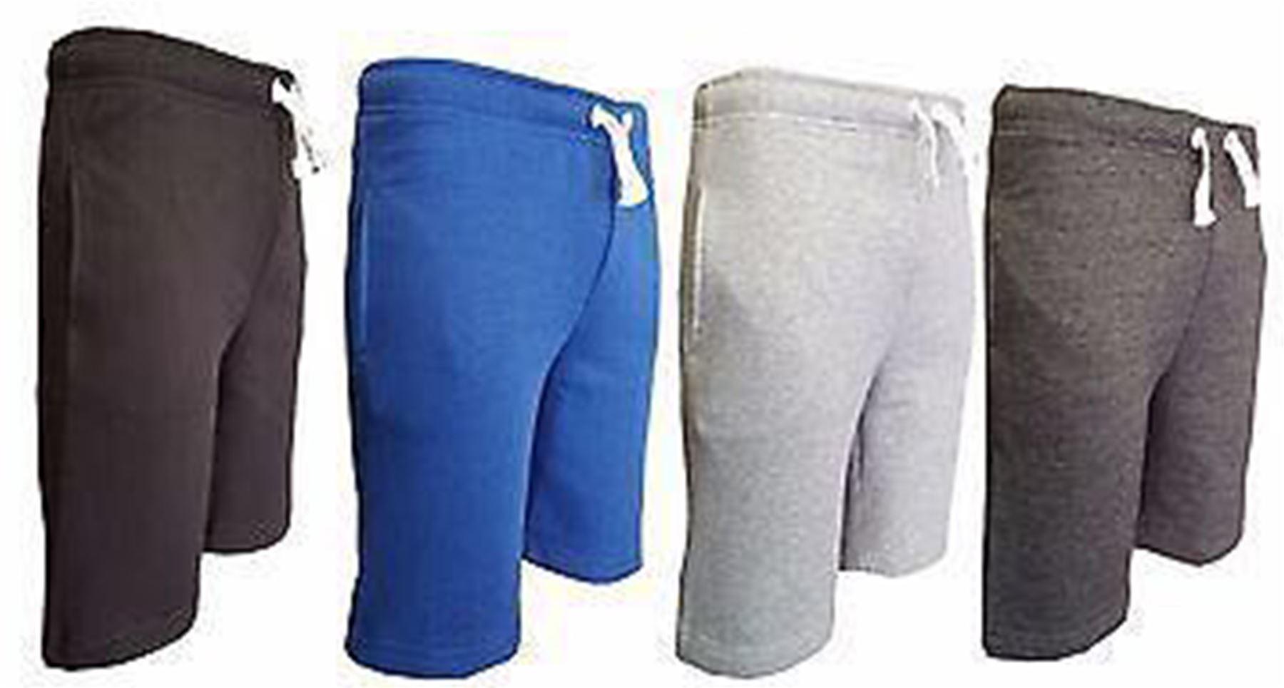 New Boys Drawstring Waist Poly-Cotton Jogging Shorts Bottoms