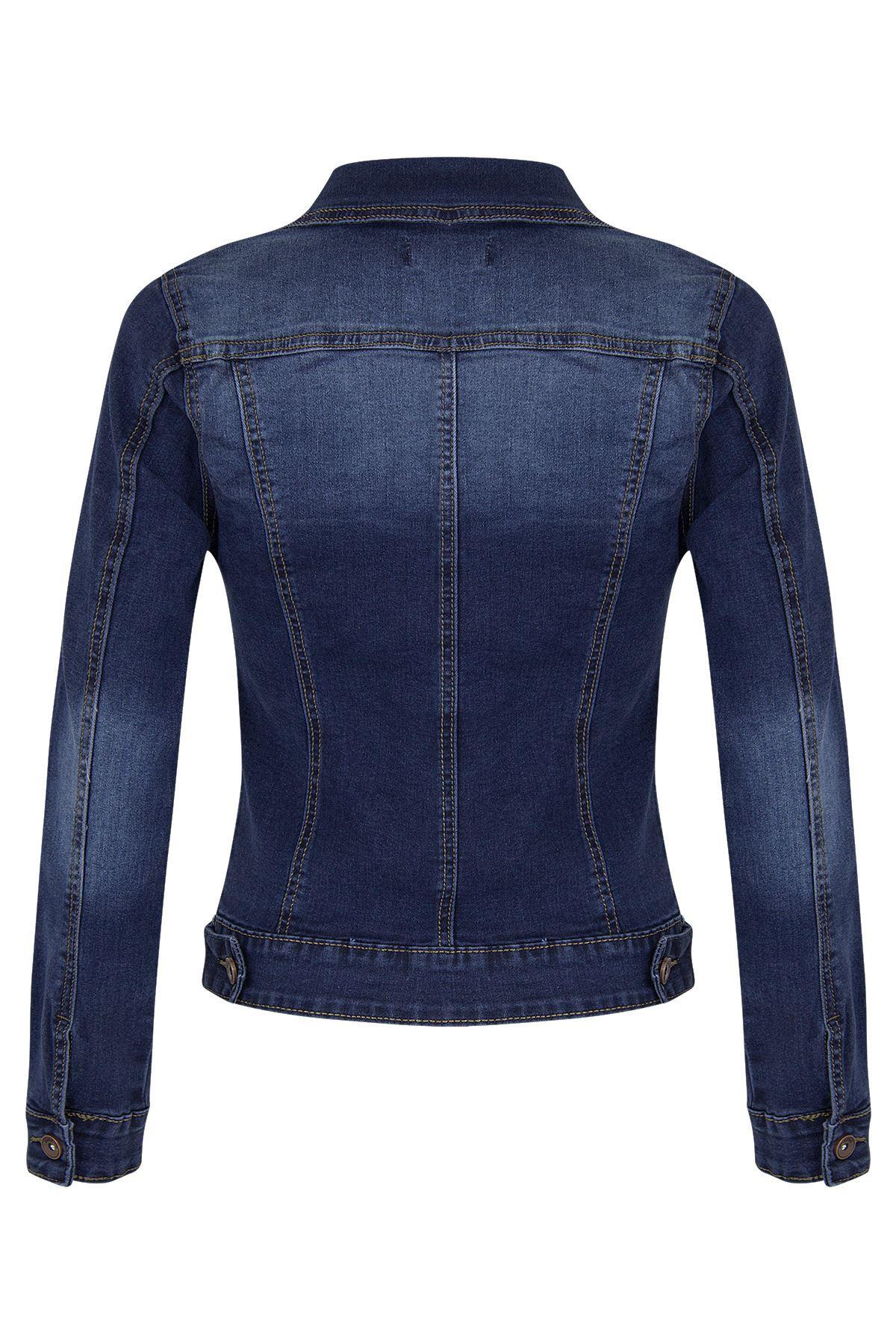 Womens-Ladies-DENIM-JACKET-Long-Sleeve-UK-8-10-12-14-16