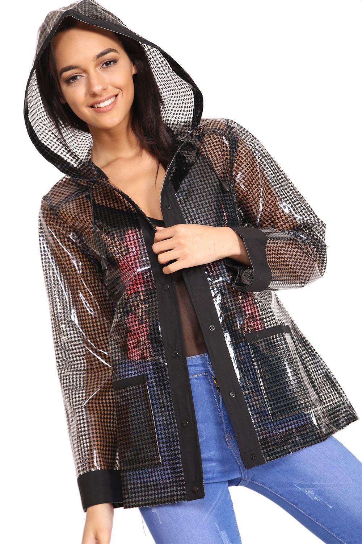 Women Men Raincoat Transparent Rainproof Coat Outdoor Jacket Summer Festival