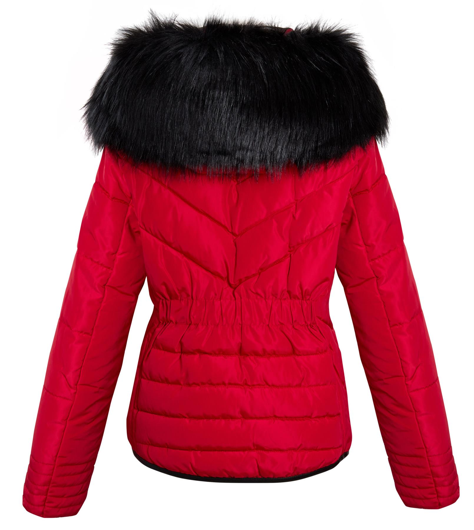 Shelikes-Womens-Ladies-Quilted-Padded-Winter-Warm-Fur-Parka-Jacket thumbnail 13