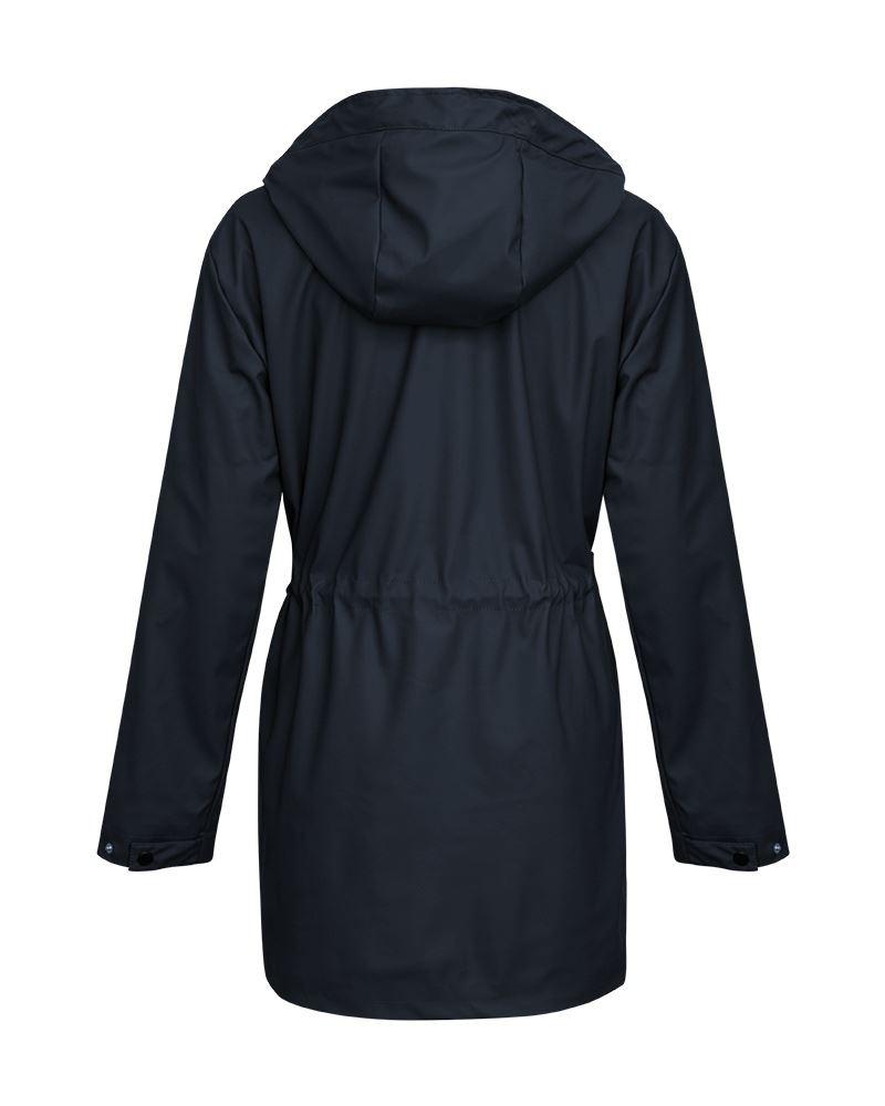 Womens Ladies Shower Proof Outdoor Wear Rain Mac Jacket Coat