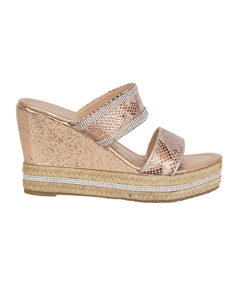 Shelikes-Womens-Sparkly-Wedge-Diamante-Slip-On-Summer-Beach-Holiday-Sandals thumbnail 10