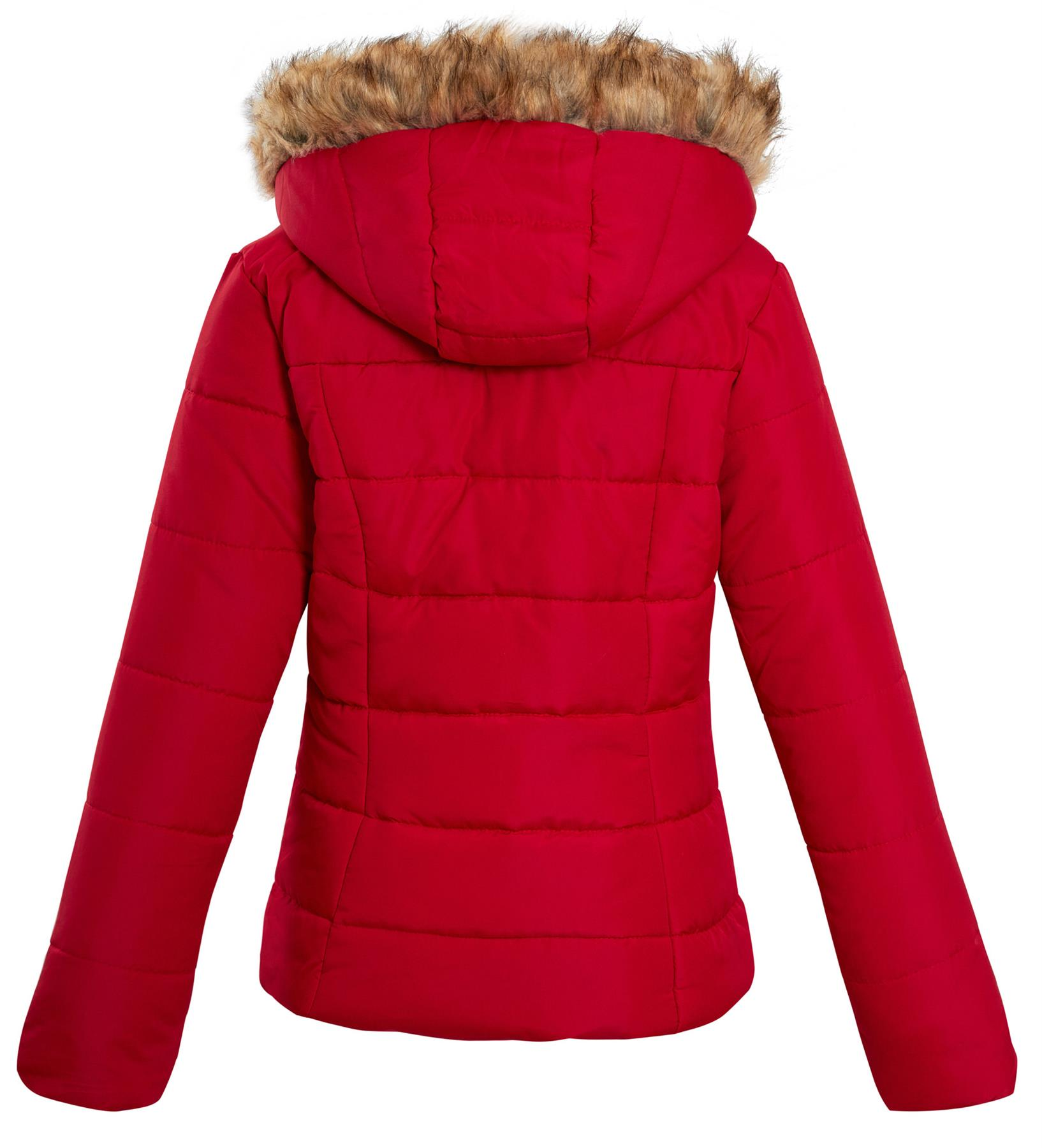 Shelikes-Ladies-Padded-Faux-Fur-Trim-Hood-Hooded-Jacket-Winter-Coat-Size-6-to-16 miniatuur 13